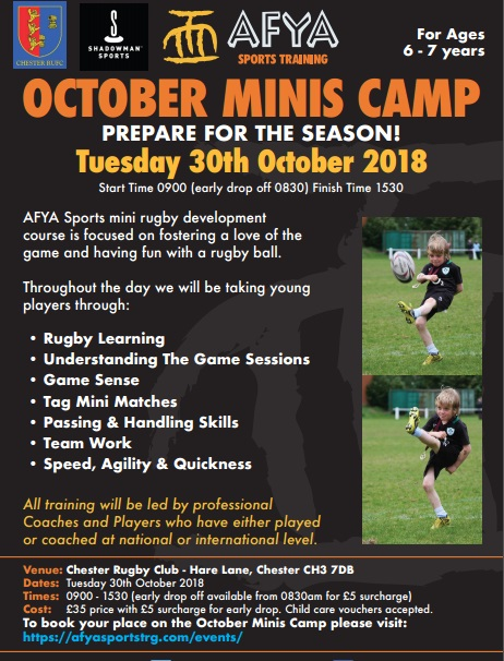 October Minis Rugby Camp Chester – AFYA Sports
